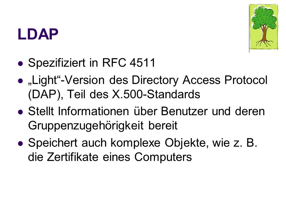 LDAP Spezifiziert in RFC 4511