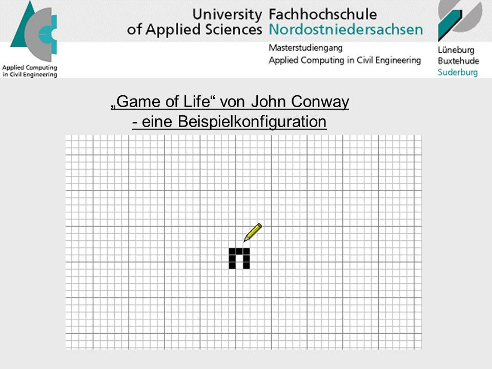 """""""Game of Life von John Conway - eine Beispielkonfiguration"""
