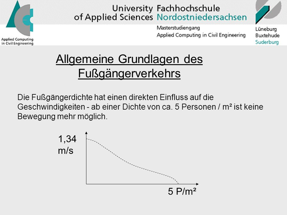 Allgemeine Grundlagen des Fußgängerverkehrs