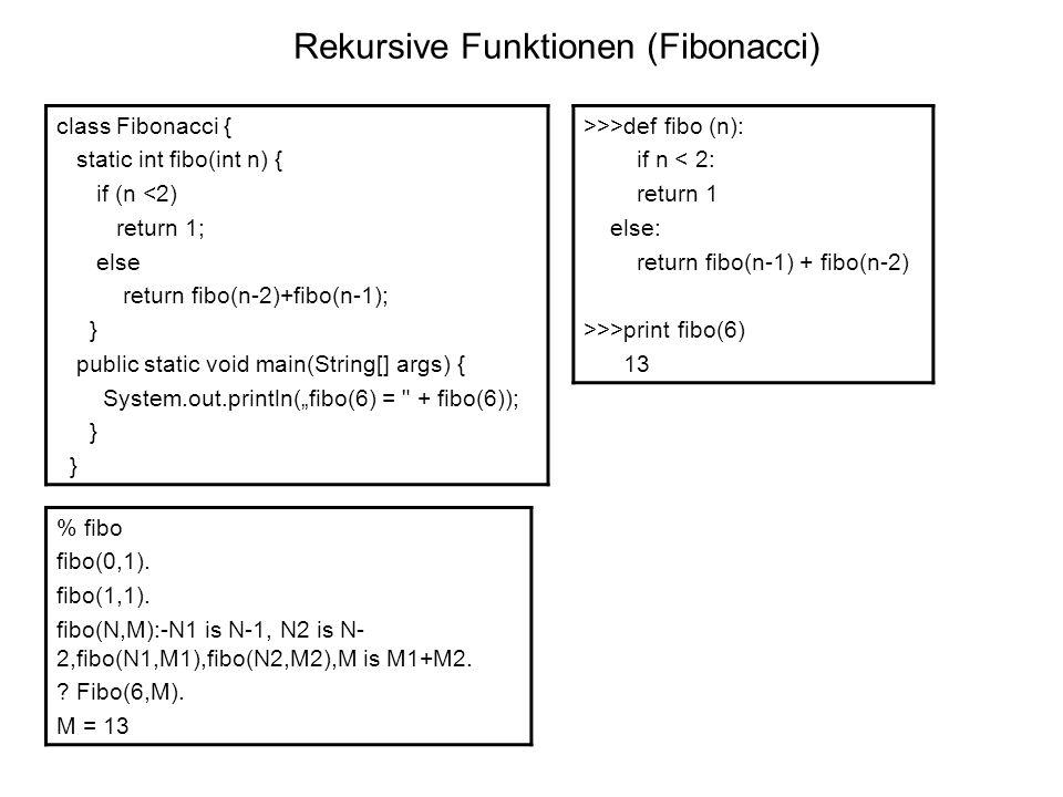 Rekursive Funktionen (Fibonacci)