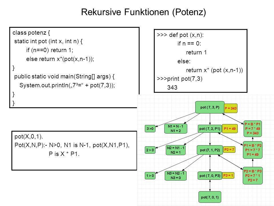 Rekursive Funktionen (Potenz)