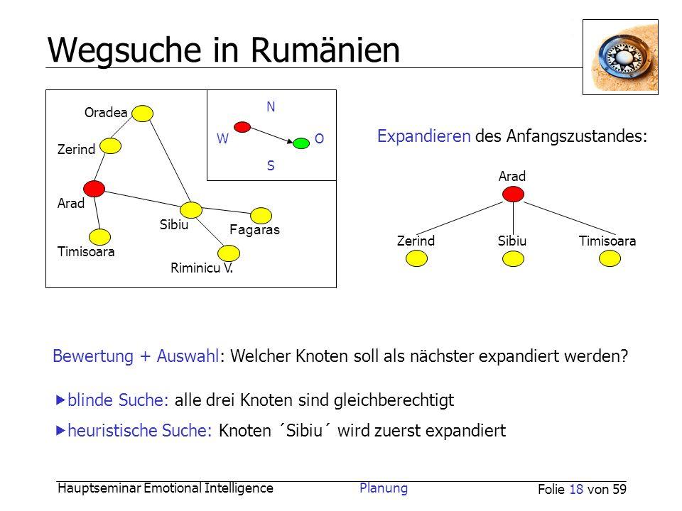 Wegsuche in Rumänien Expandieren des Anfangszustandes: