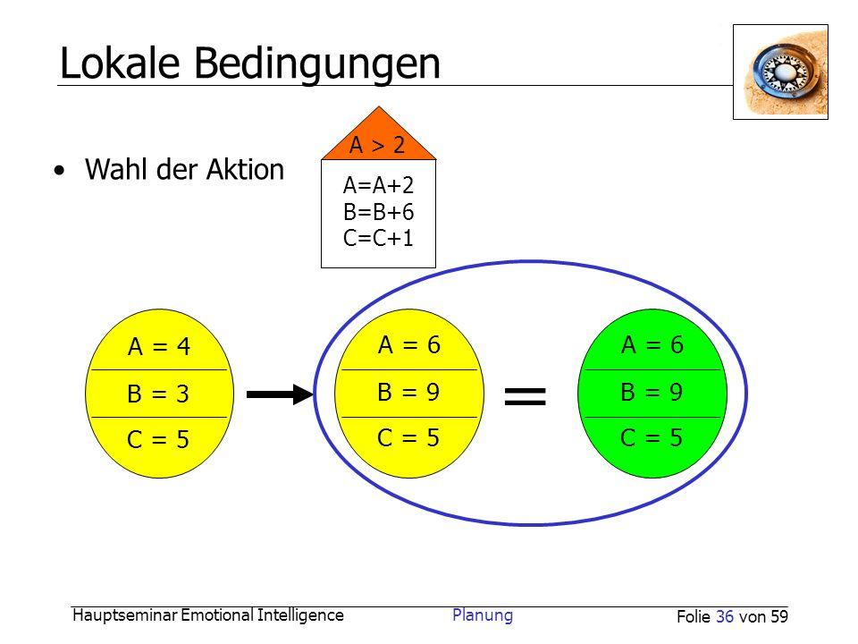 = Lokale Bedingungen A = 4 A = 6 A = 6 B = 3 B = 9 B = 9 C = 5 C = 5
