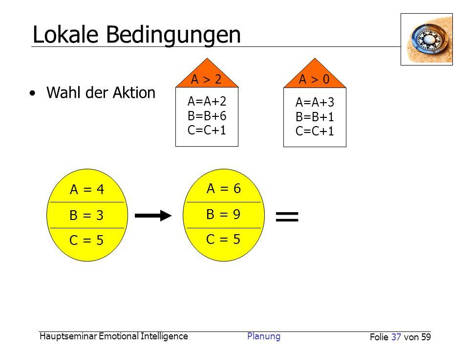 = Lokale Bedingungen A = 4 A = 6 B = 3 B = 9 C = 5 C = 5 A > 2