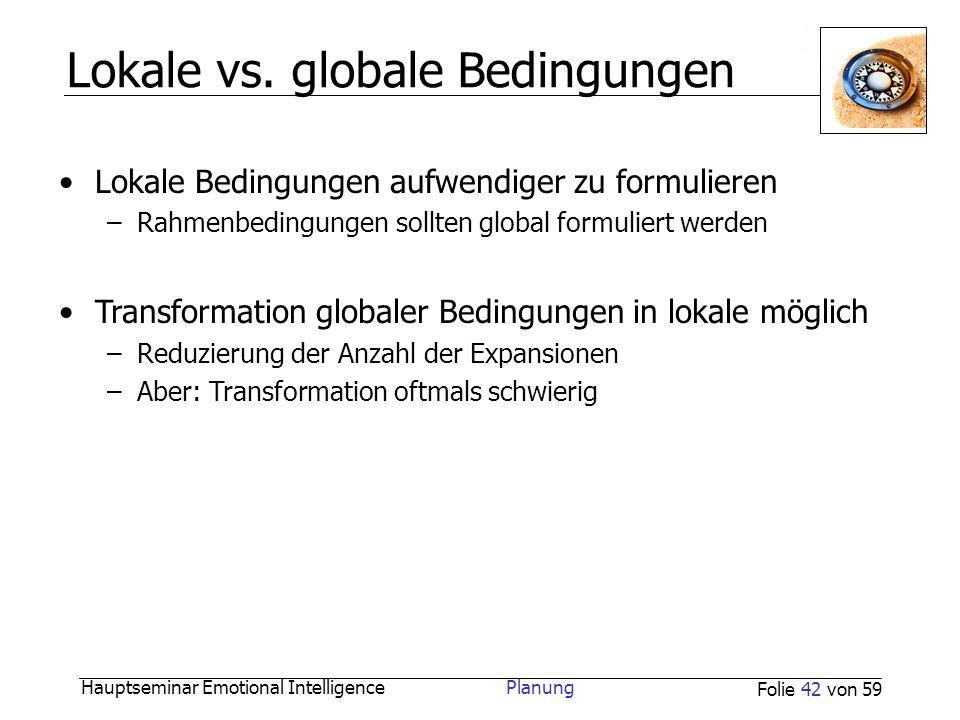 Lokale vs. globale Bedingungen