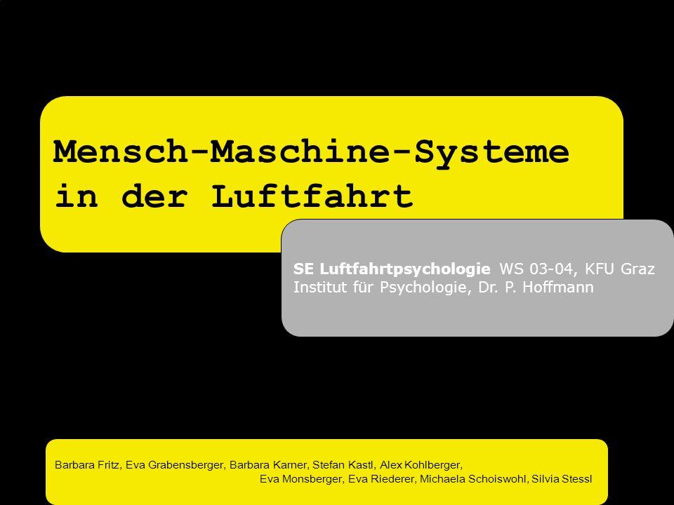 Mensch-Maschine-Systeme in der Luftfahrt