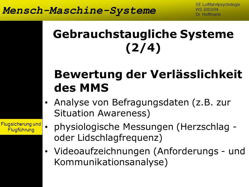 Gebrauchstaugliche Systeme (2/4)