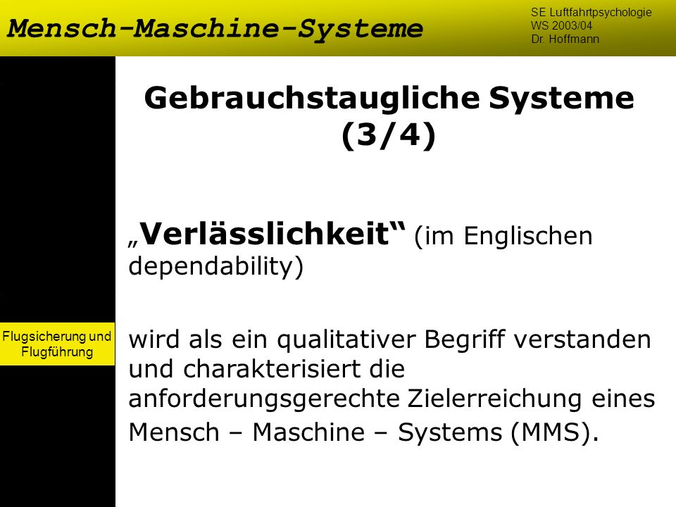 Gebrauchstaugliche Systeme (3/4)