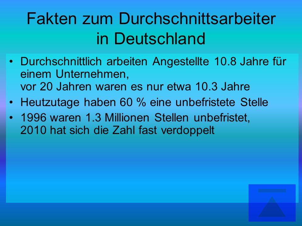 Fakten zum Durchschnittsarbeiter in Deutschland