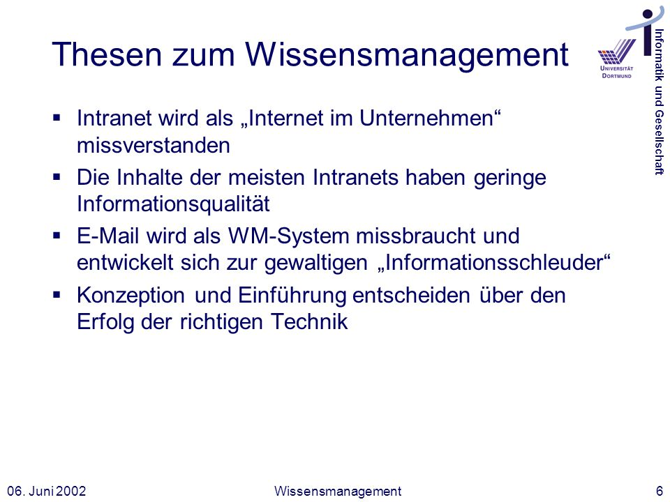 Thesen zum Wissensmanagement