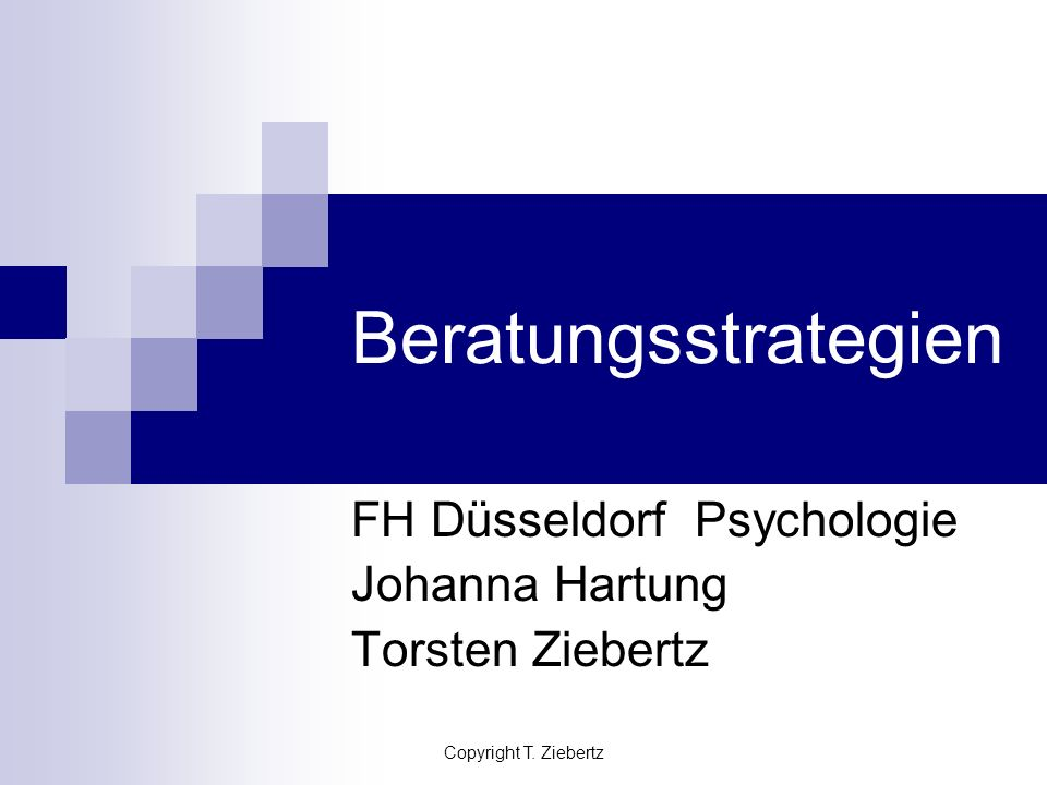 FH Düsseldorf Psychologie Johanna Hartung Torsten Ziebertz