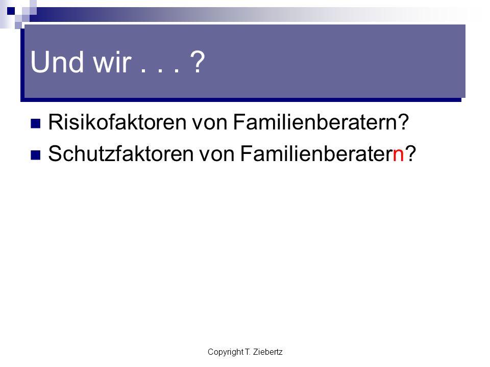Und wir . . . Risikofaktoren von Familienberatern