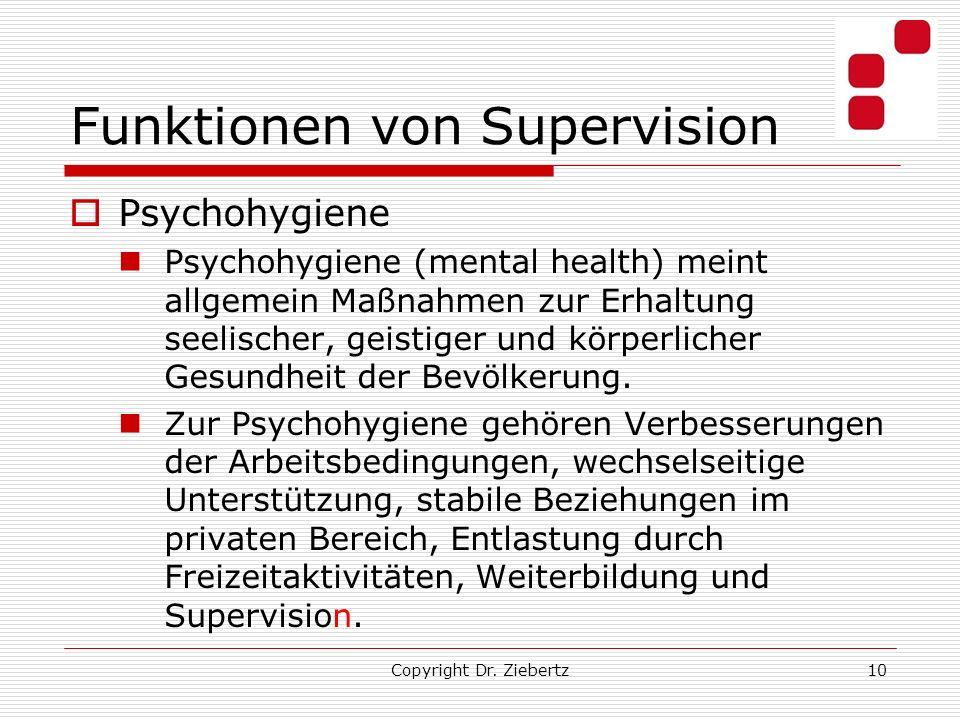 Funktionen von Supervision