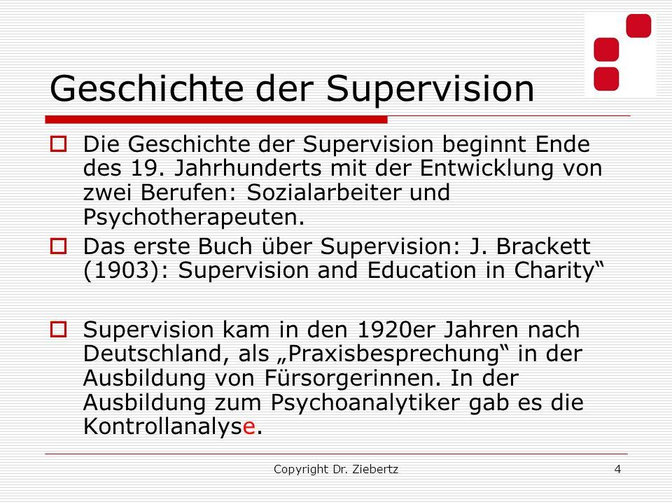 Geschichte der Supervision