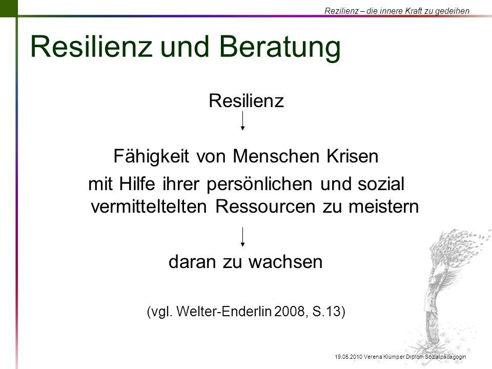 Resilienz und Beratung