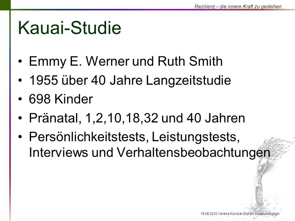 Kauai-Studie Emmy E. Werner und Ruth Smith