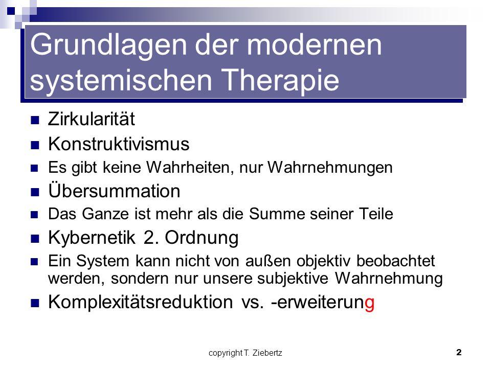 Grundlagen der modernen systemischen Therapie