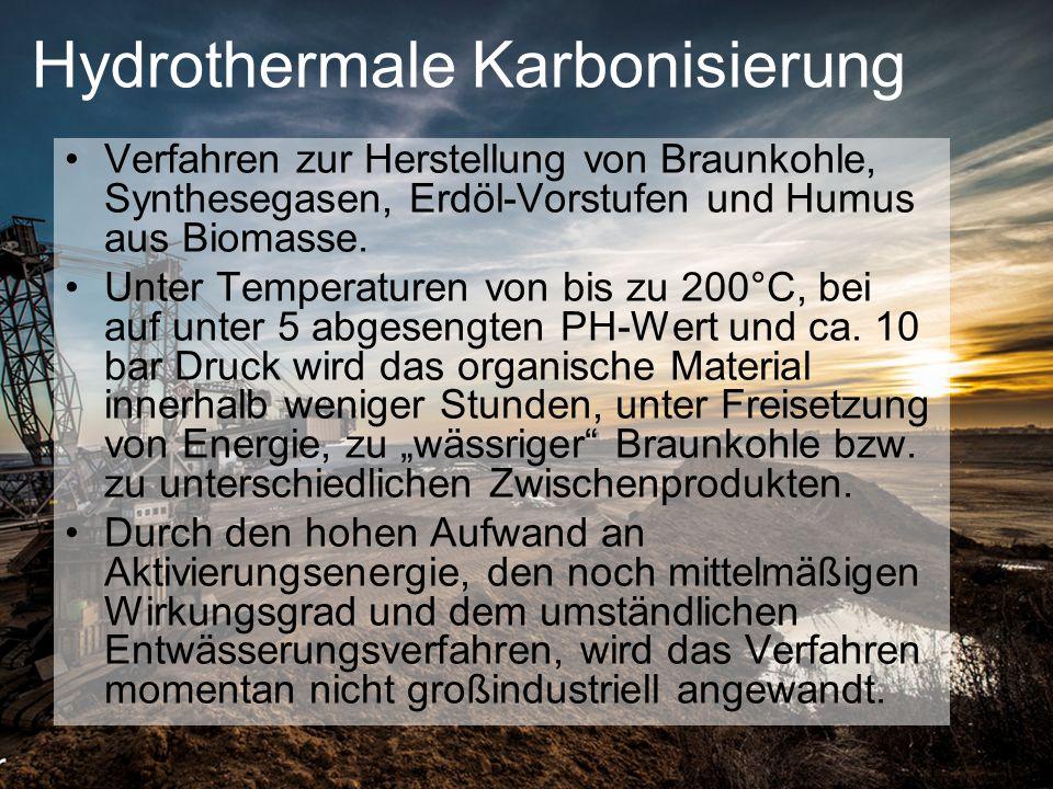 Hydrothermale Karbonisierung