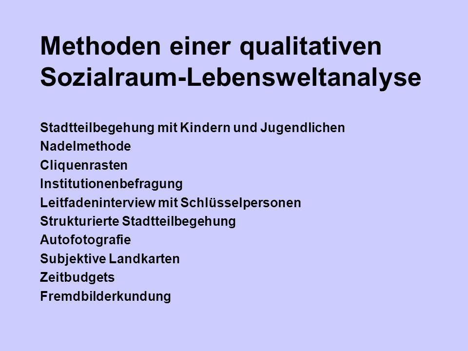 Methoden einer qualitativen Sozialraum-Lebensweltanalyse