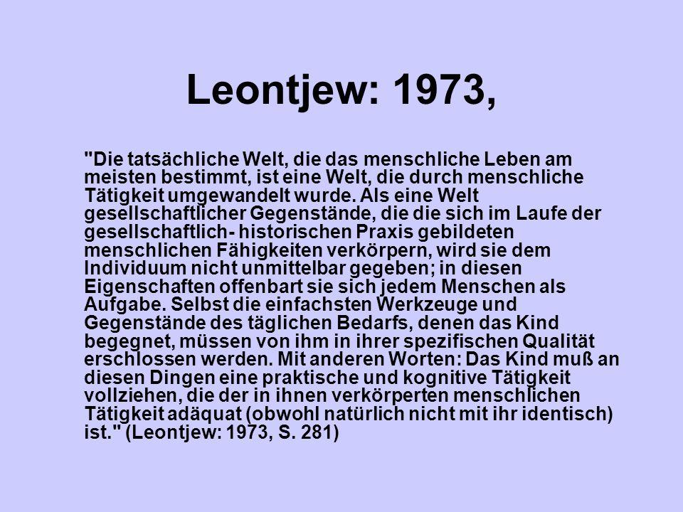 Leontjew: 1973,