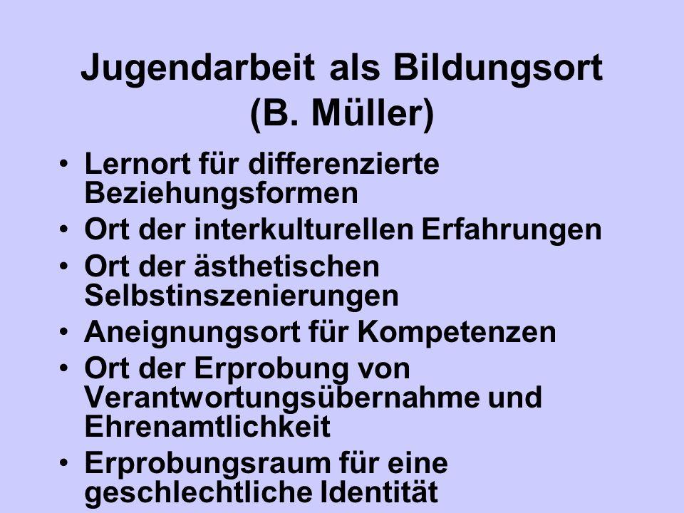 Jugendarbeit als Bildungsort (B. Müller)
