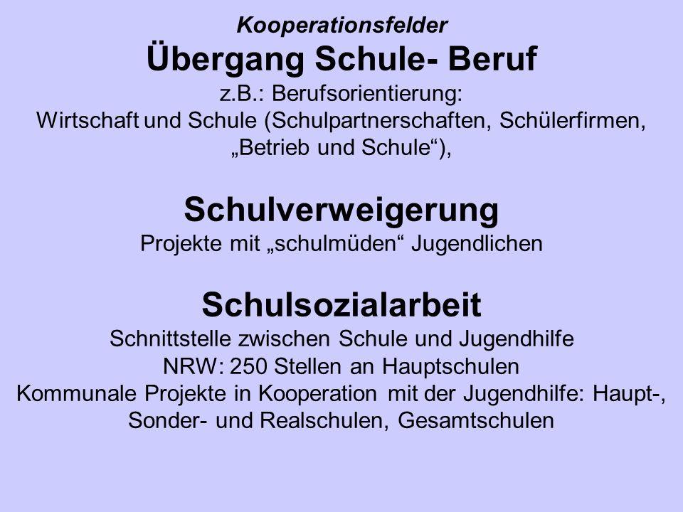 Kooperationsfelder Übergang Schule- Beruf z. B