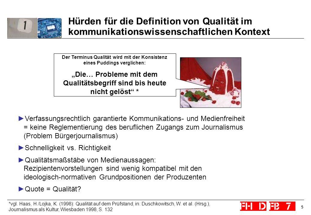"""""""Die… Probleme mit dem Qualitätsbegriff sind bis heute nicht gelöst *"""