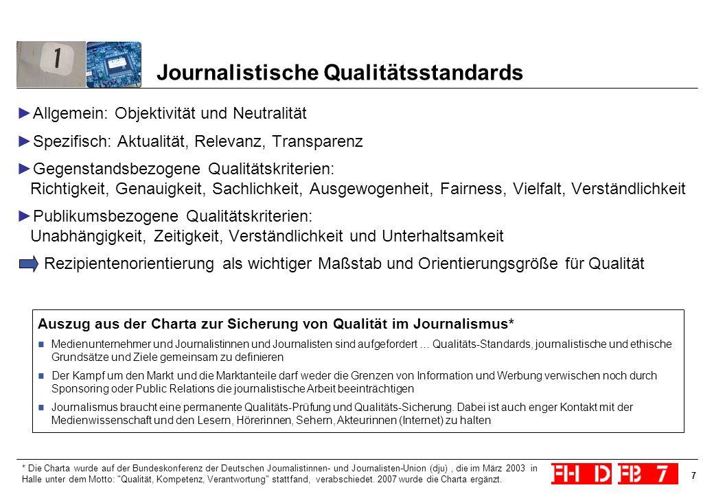 Journalistische Qualitätsstandards