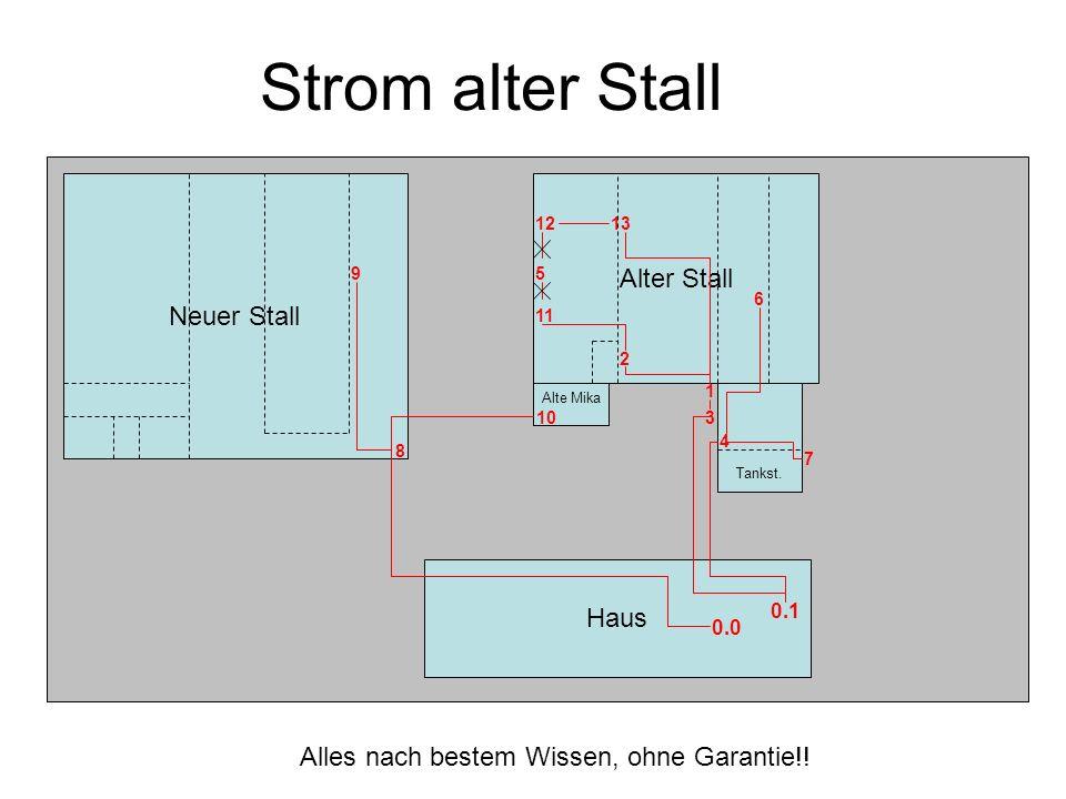 Strom alter Stall Alter Stall Neuer Stall Haus