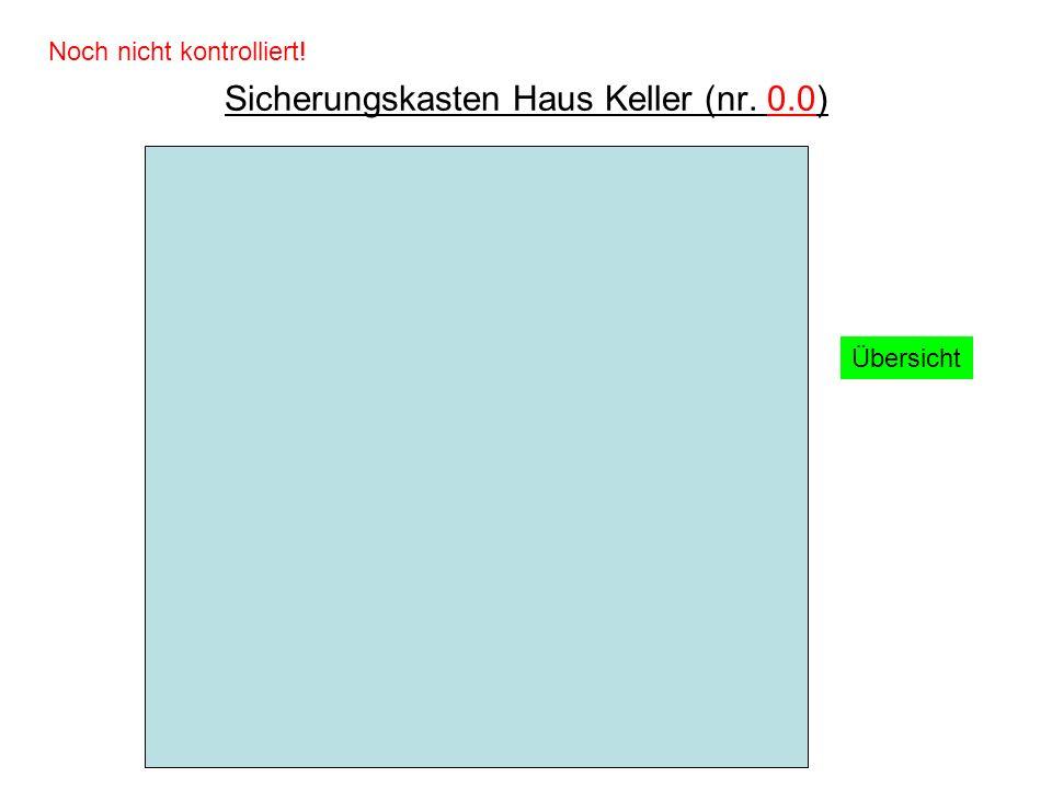Sicherungskasten Haus Keller (nr. 0.0)