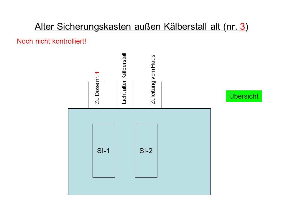 Alter Sicherungskasten außen Kälberstall alt (nr. 3)