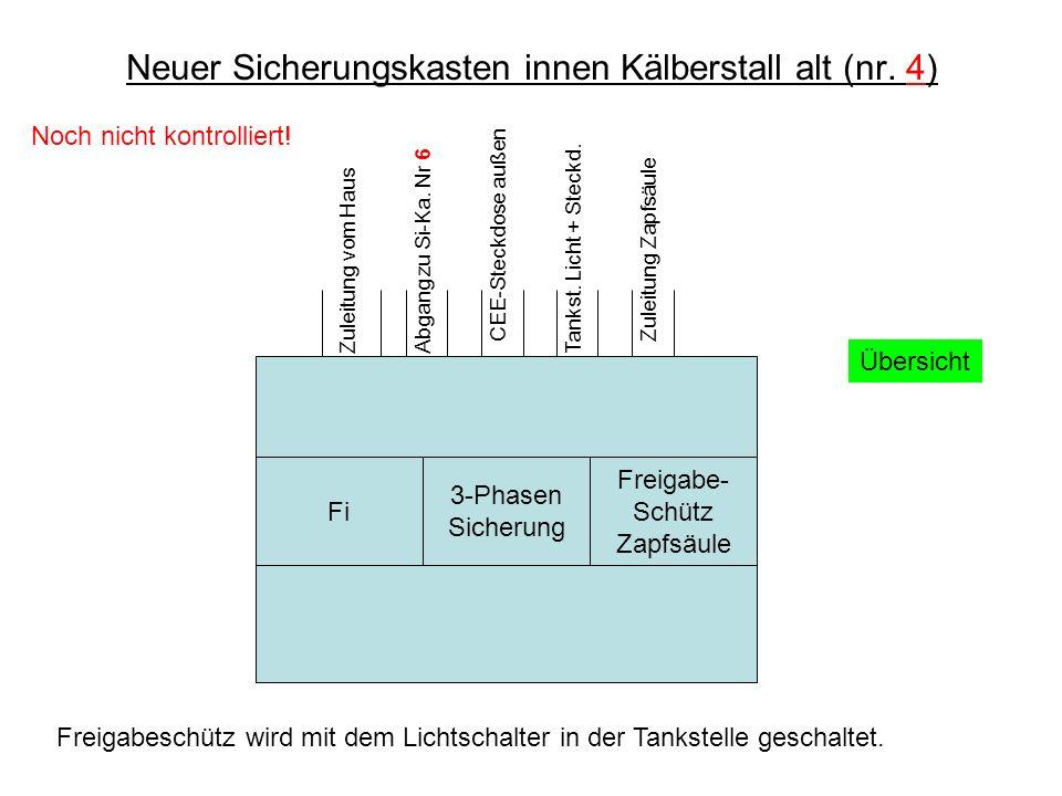 Neuer Sicherungskasten innen Kälberstall alt (nr. 4)
