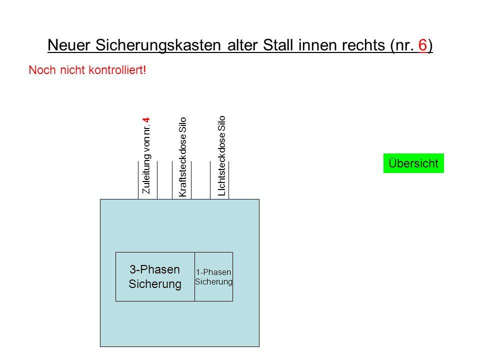 Neuer Sicherungskasten alter Stall innen rechts (nr. 6)