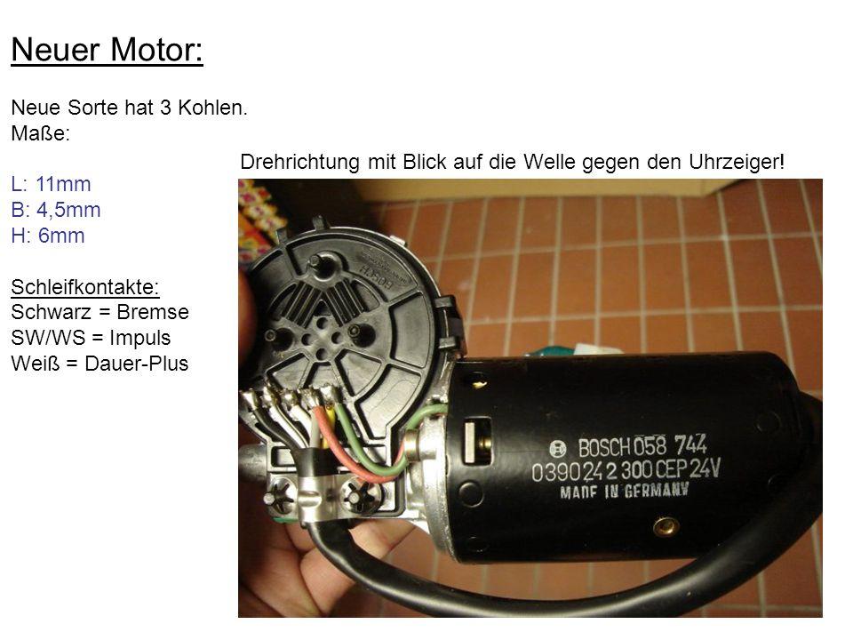 Neuer Motor: Neue Sorte hat 3 Kohlen. Maße: L: 11mm B: 4,5mm H: 6mm