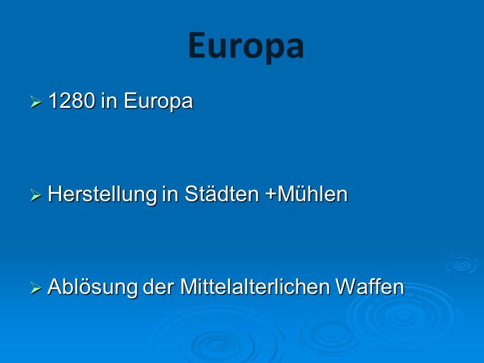 Europa 1280 in Europa Herstellung in Städten +Mühlen