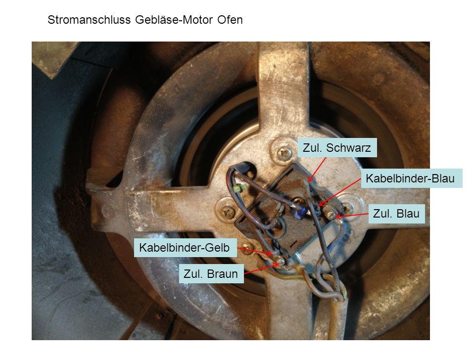 Stromanschluss Gebläse-Motor Ofen