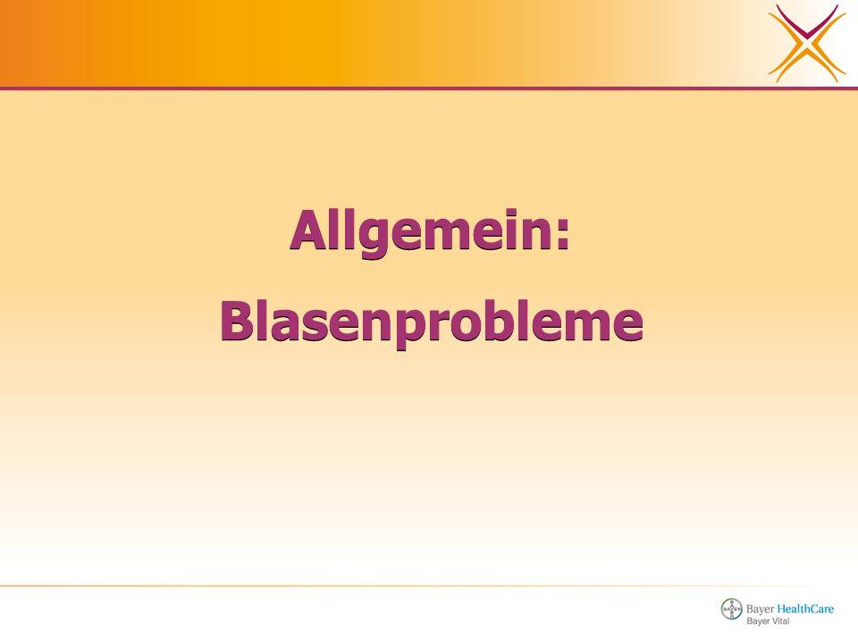 Allgemein: Blasenprobleme