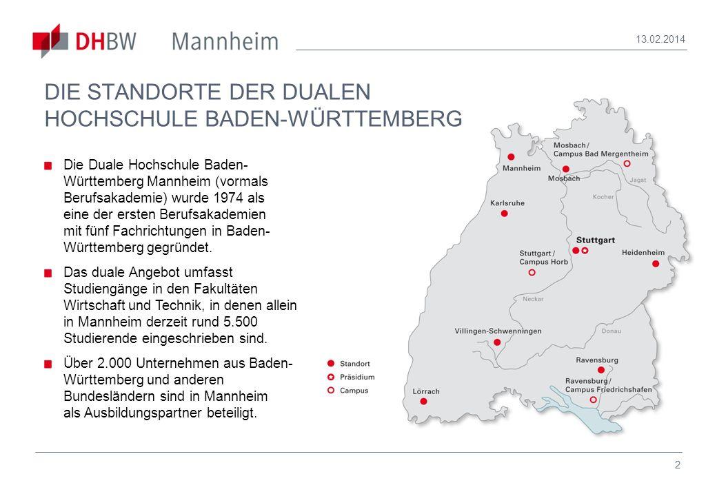 DIE STANDORTE DER DUALEN HOCHSCHULE BADEN-WÜRTTEMBERG