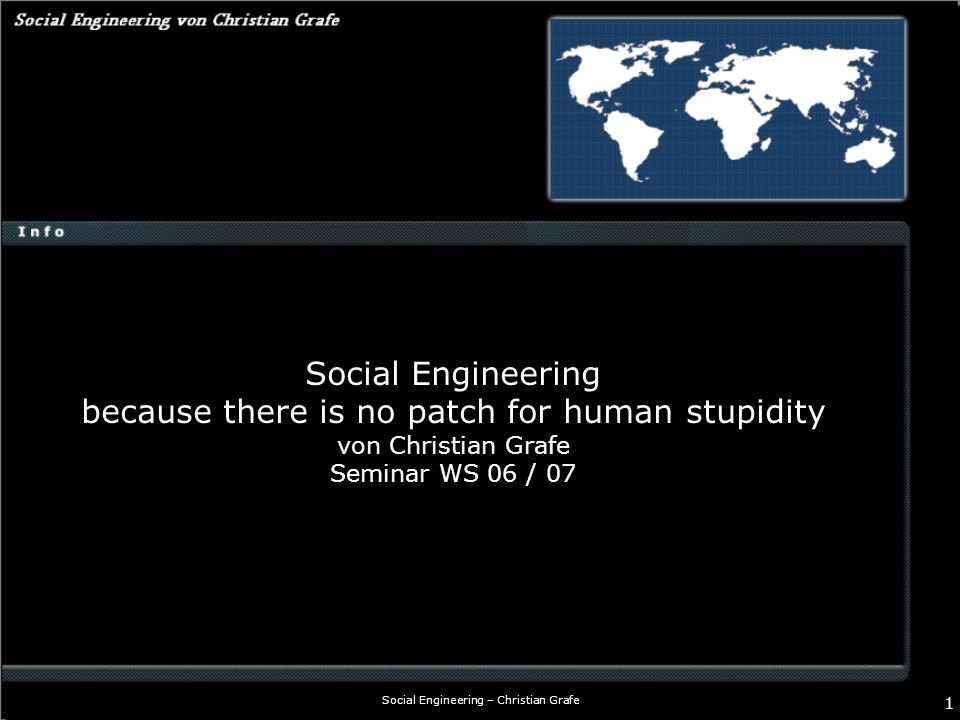 Social Engineering – Christian Grafe