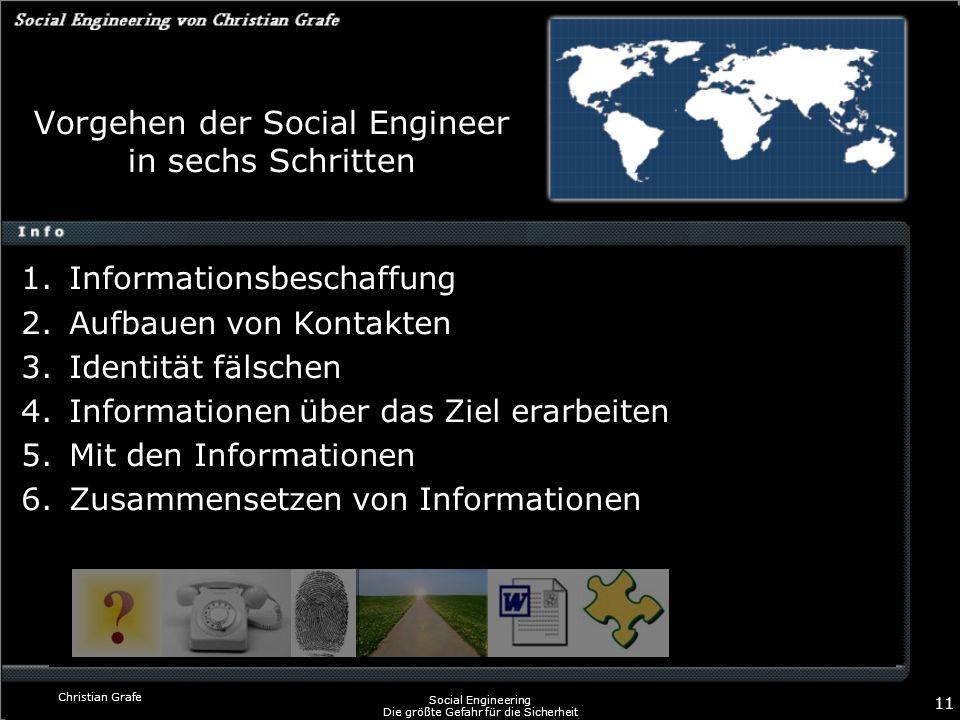 Vorgehen der Social Engineer in sechs Schritten