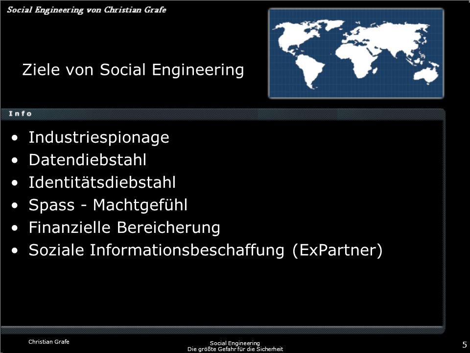 Ziele von Social Engineering
