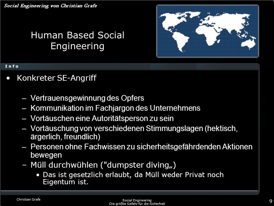 Human Based Social Engineering