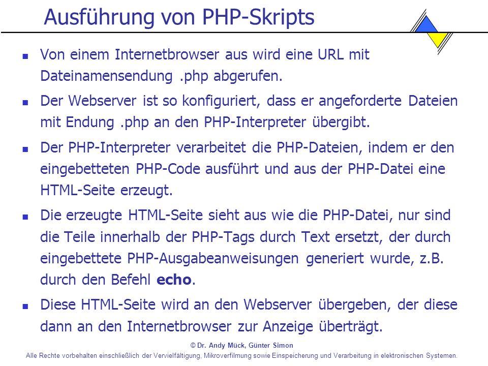 Ausführung von PHP-Skripts