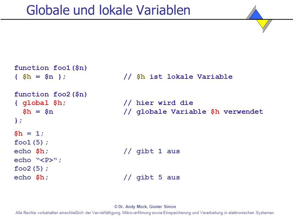 Globale und lokale Variablen