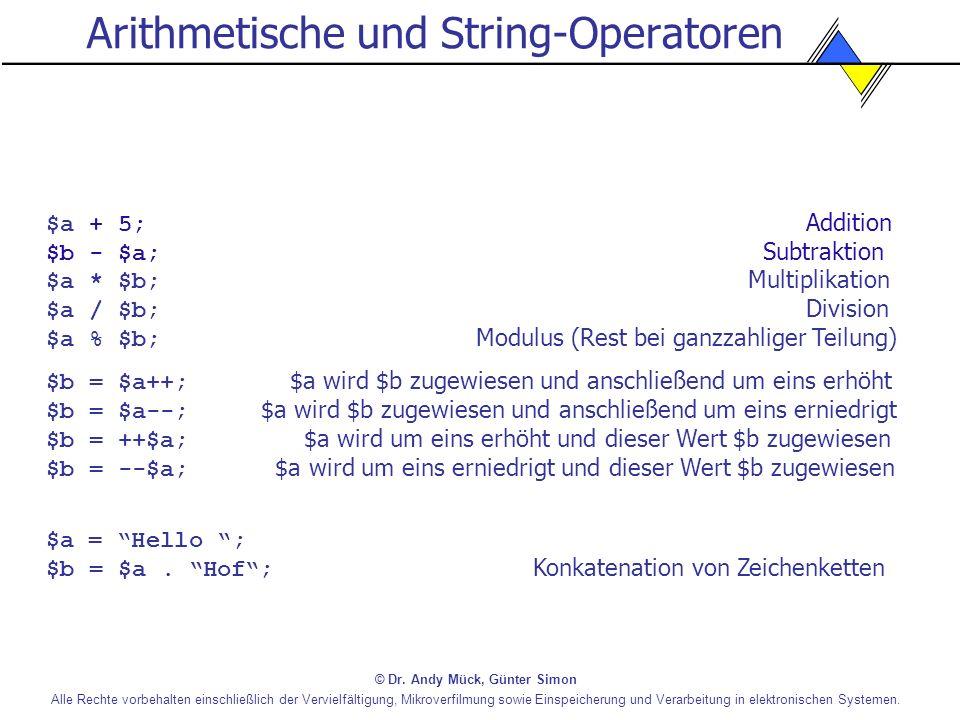 Arithmetische und String-Operatoren