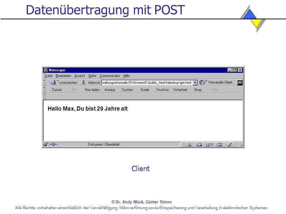 Datenübertragung mit POST