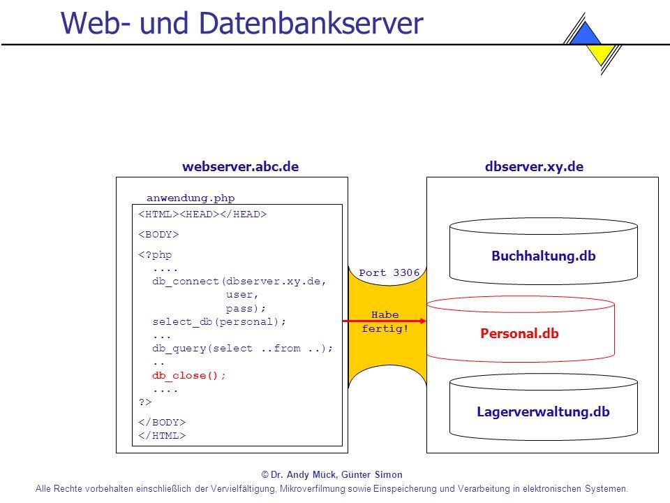 Web- und Datenbankserver