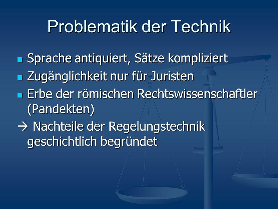 Problematik der Technik