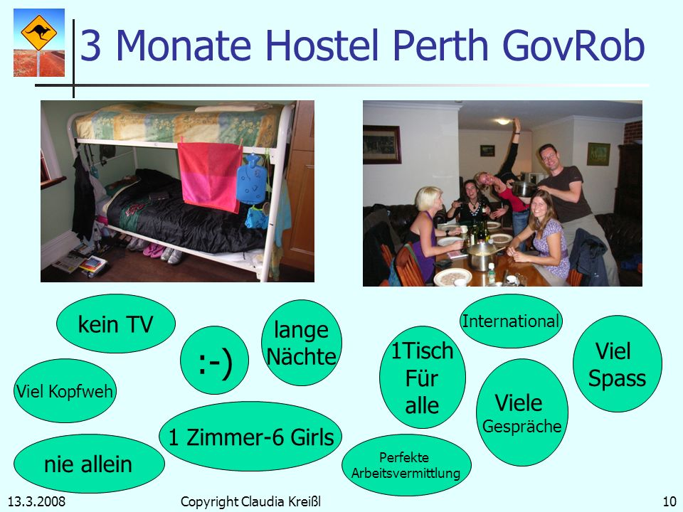 3 Monate Hostel Perth GovRob
