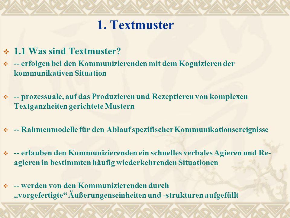 1. Textmuster 1.1 Was sind Textmuster